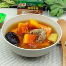 秋季养颜——木瓜骨头汤