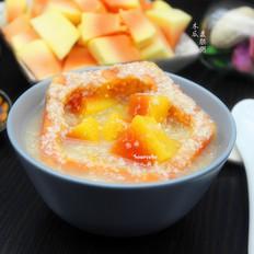 木瓜麦胚粥