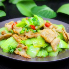 肉片炒青菜