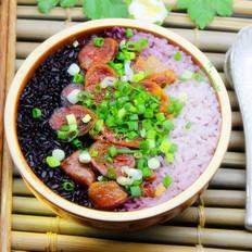 腊味黑白米蒸饭