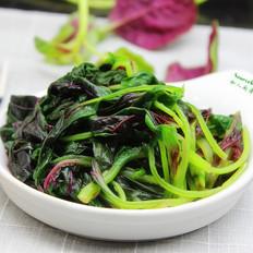 沙拉醬拌紫莧菜