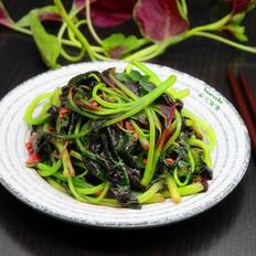 蒜蓉炒紫莧菜