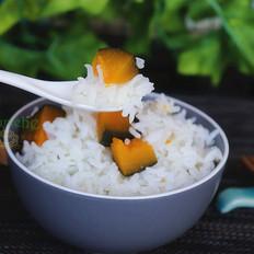 南瓜蒸米饭