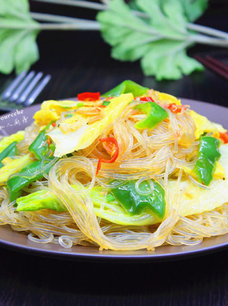 虾米炒粉丝的做法
