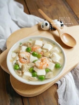 虾仁烩豆腐的做法