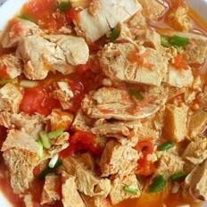 番茄烧冻豆腐