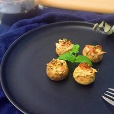 吞拿鱼烤蘑菇