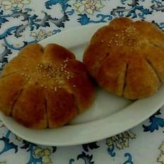全麦豆沙面包