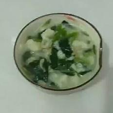 海米菠菜疙瘩汤的做法
