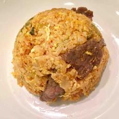 辣白菜牛肉炒饭