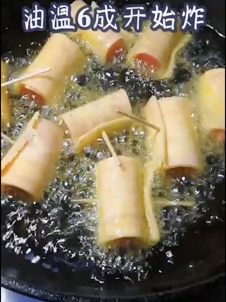 火腿红薯卷的步骤