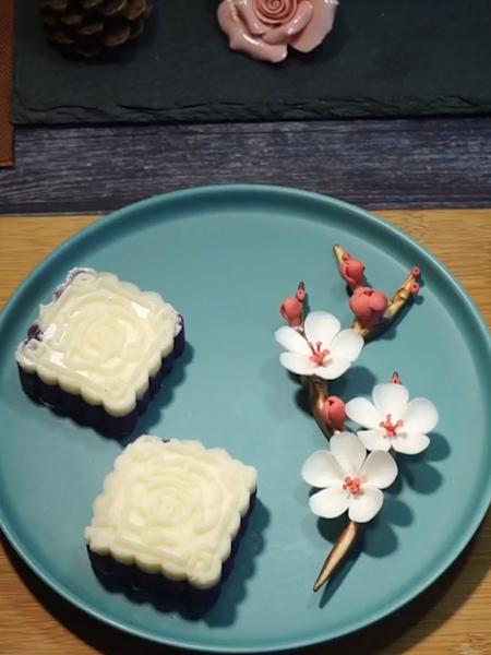 紫晶白玉糕成品图