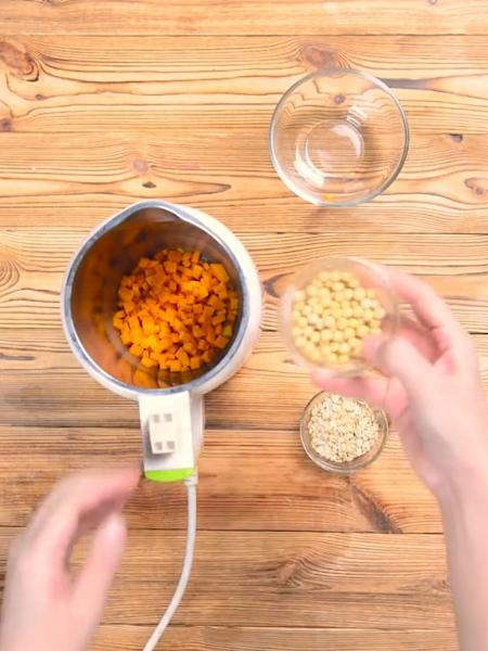南瓜燕麦豆浆的做法图解