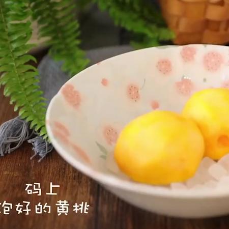 黄桃罐头+果冻怎么吃