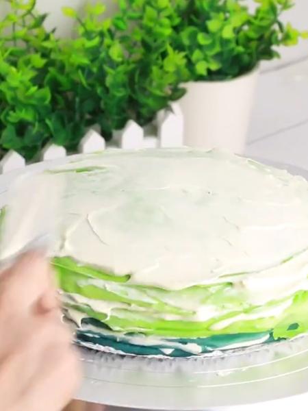 彩虹千层蛋糕怎么炒