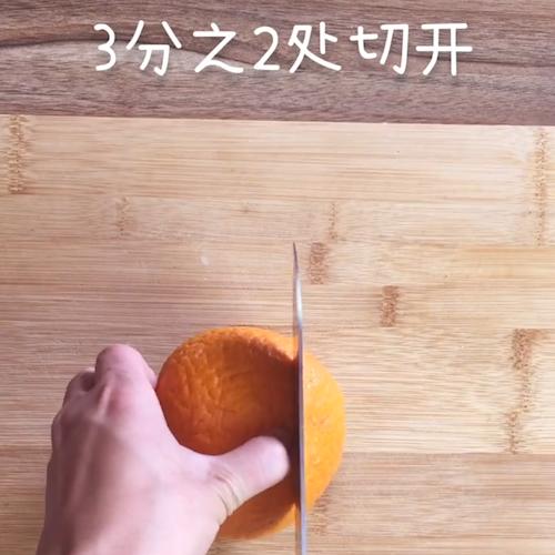 橙子蒸蛋的做法大全