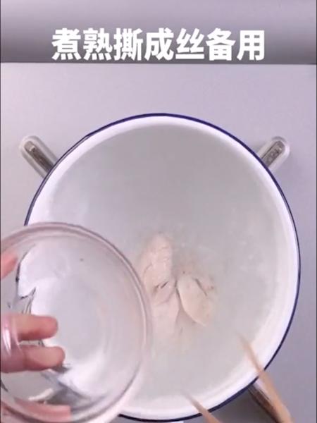 鸡丝凉面怎么吃