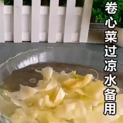 凉拌手撕卷心菜的做法图解