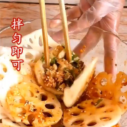 酸辣藕片怎么吃