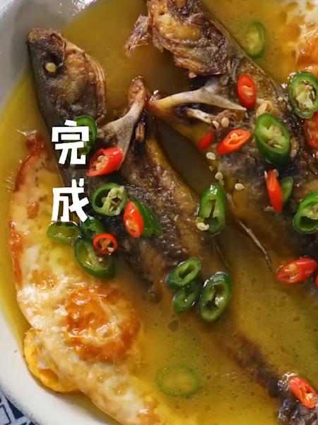 荷包蛋焖黄骨鱼怎么做