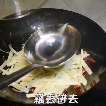 韭香脆藕的简单做法