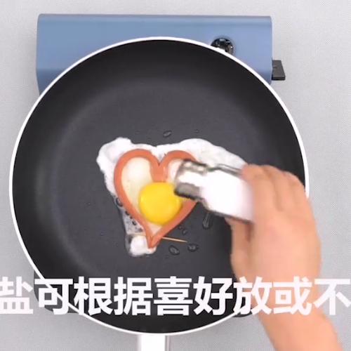 爱心煎蛋怎么吃