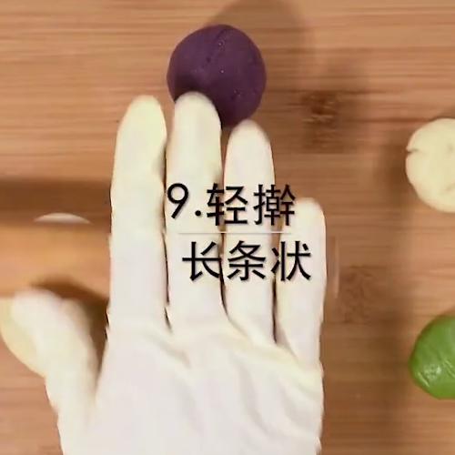 绣球紫薯蛋黄酥怎么吃