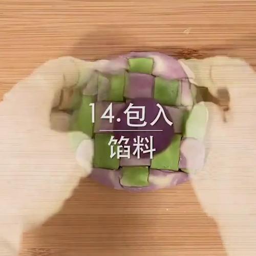 绣球紫薯蛋黄酥怎么煮