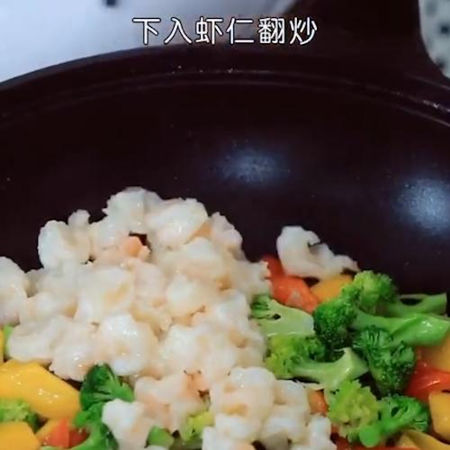 西兰花炒虾仁怎么炒