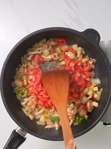 咖喱鸡肉芝士焗饭的做法图解
