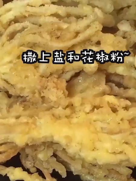 蛋酥金针菇的简单做法