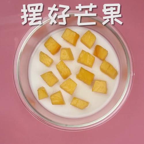 芒果夹心椰汁糕怎么吃