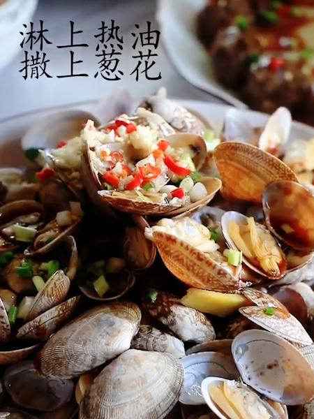 葱油淋蛤蜊怎么做