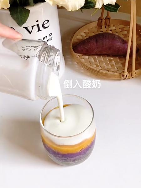 双薯麦片酸奶杯怎么做