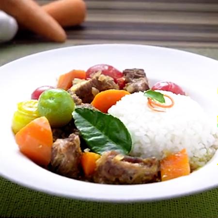咖喱牛腩饭怎么煮