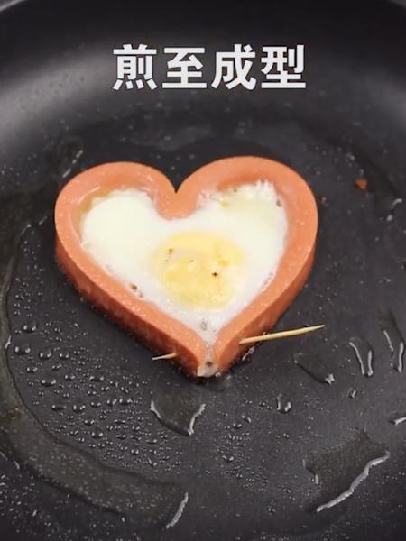 爱心煎蛋的步骤