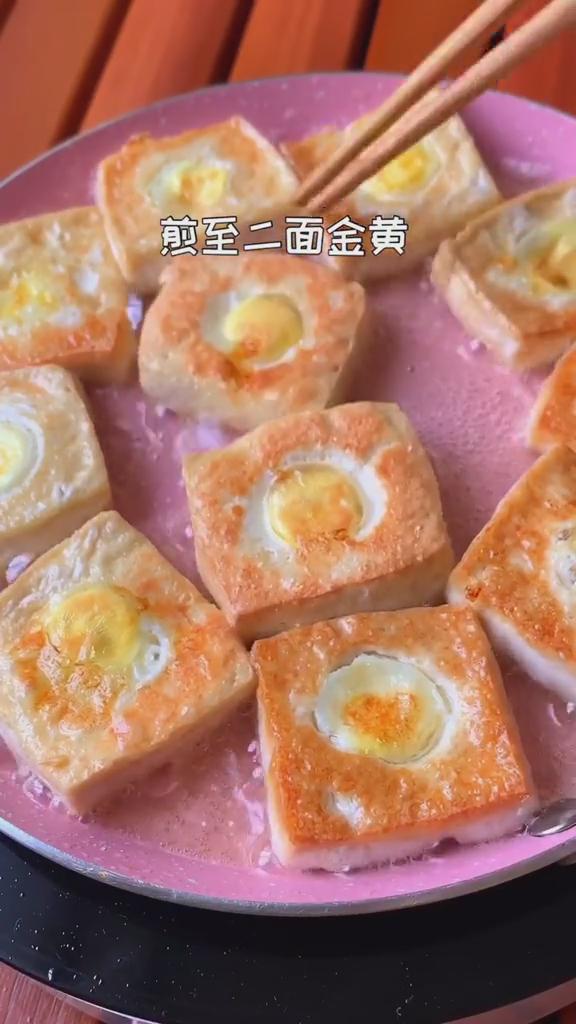 烧烤味豆腐煎蛋的简单做法