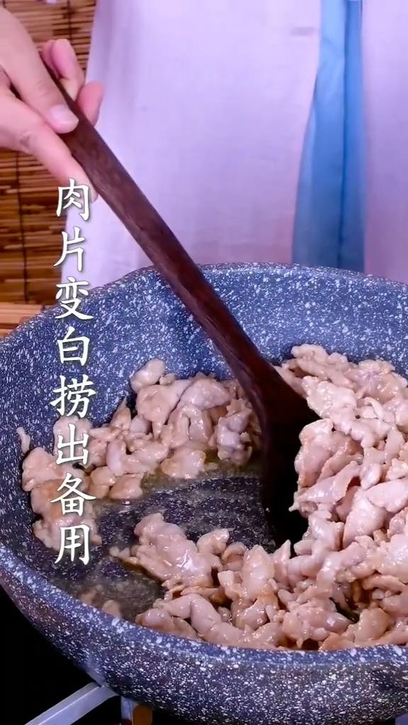 蒜苔炒肉的步骤