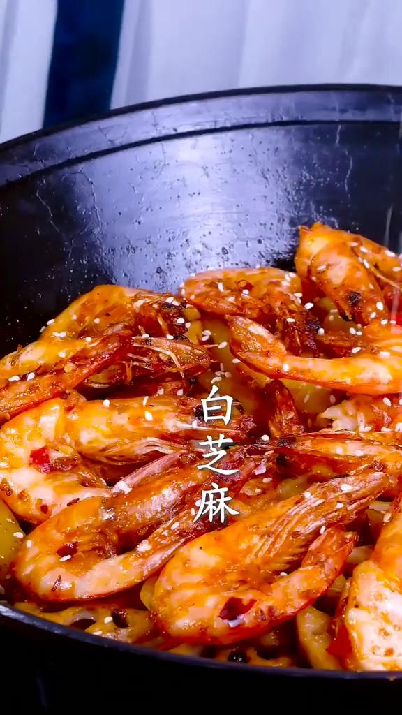 干锅虾成品图