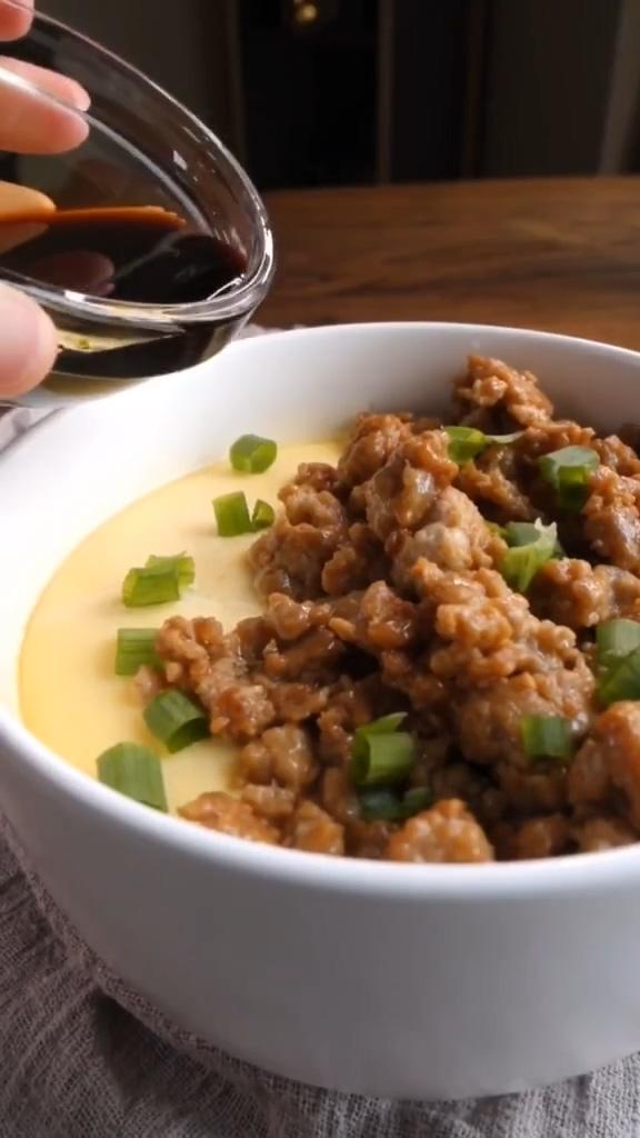 肉泥豆腐蒸蛋怎么做