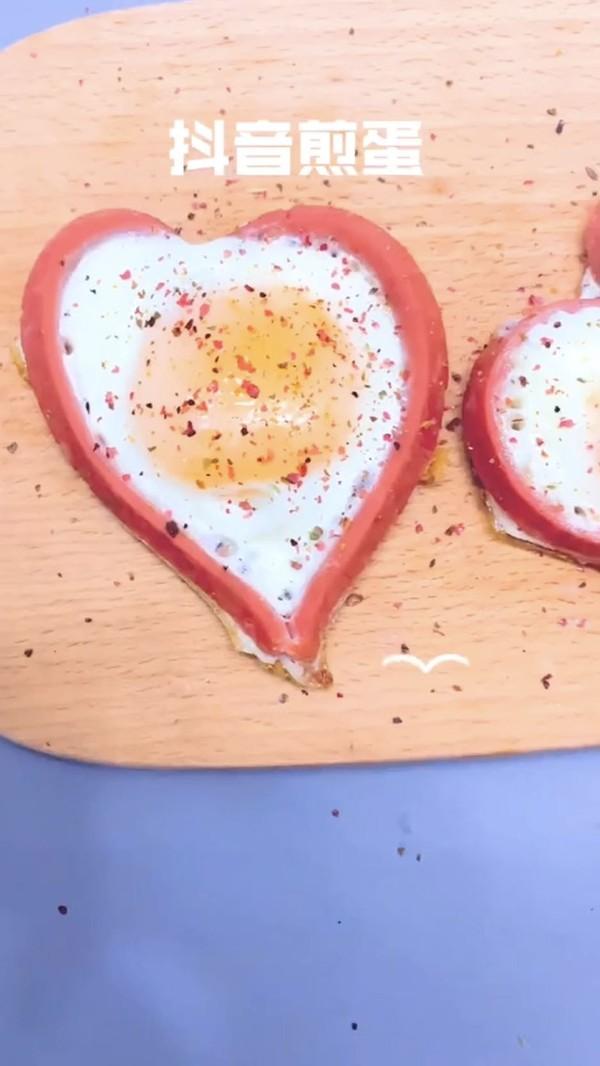 爱心煎蛋成品图