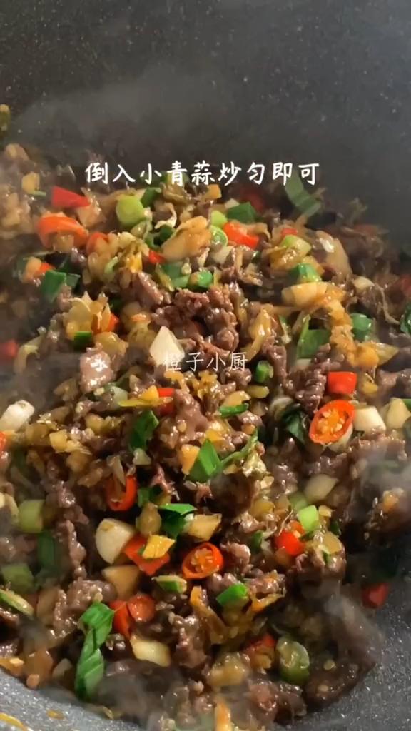 酸菜炒牛肉怎么吃