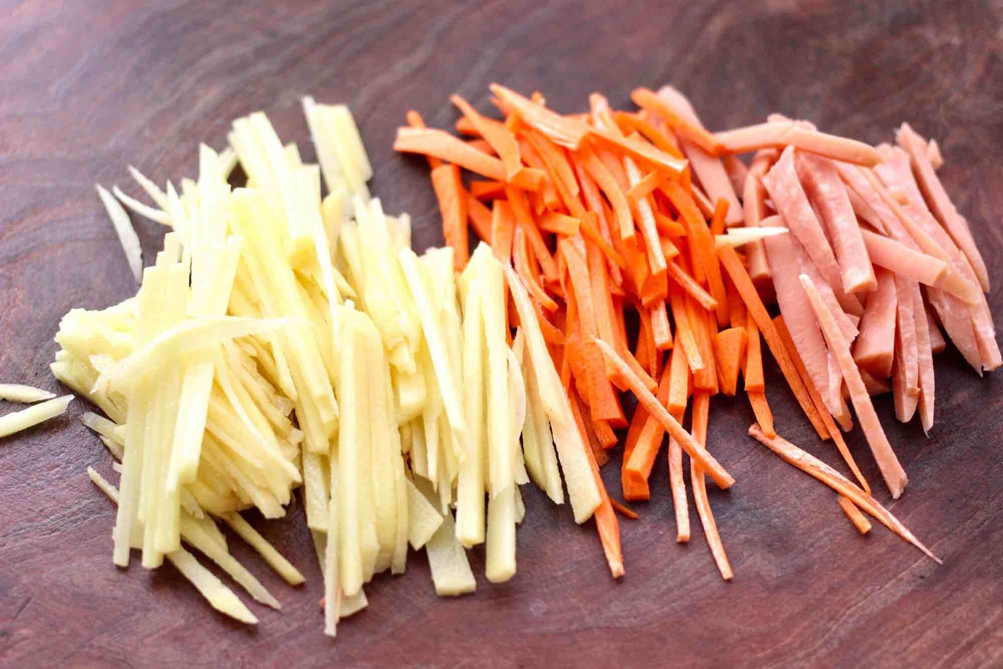 合菜春卷的做法图解