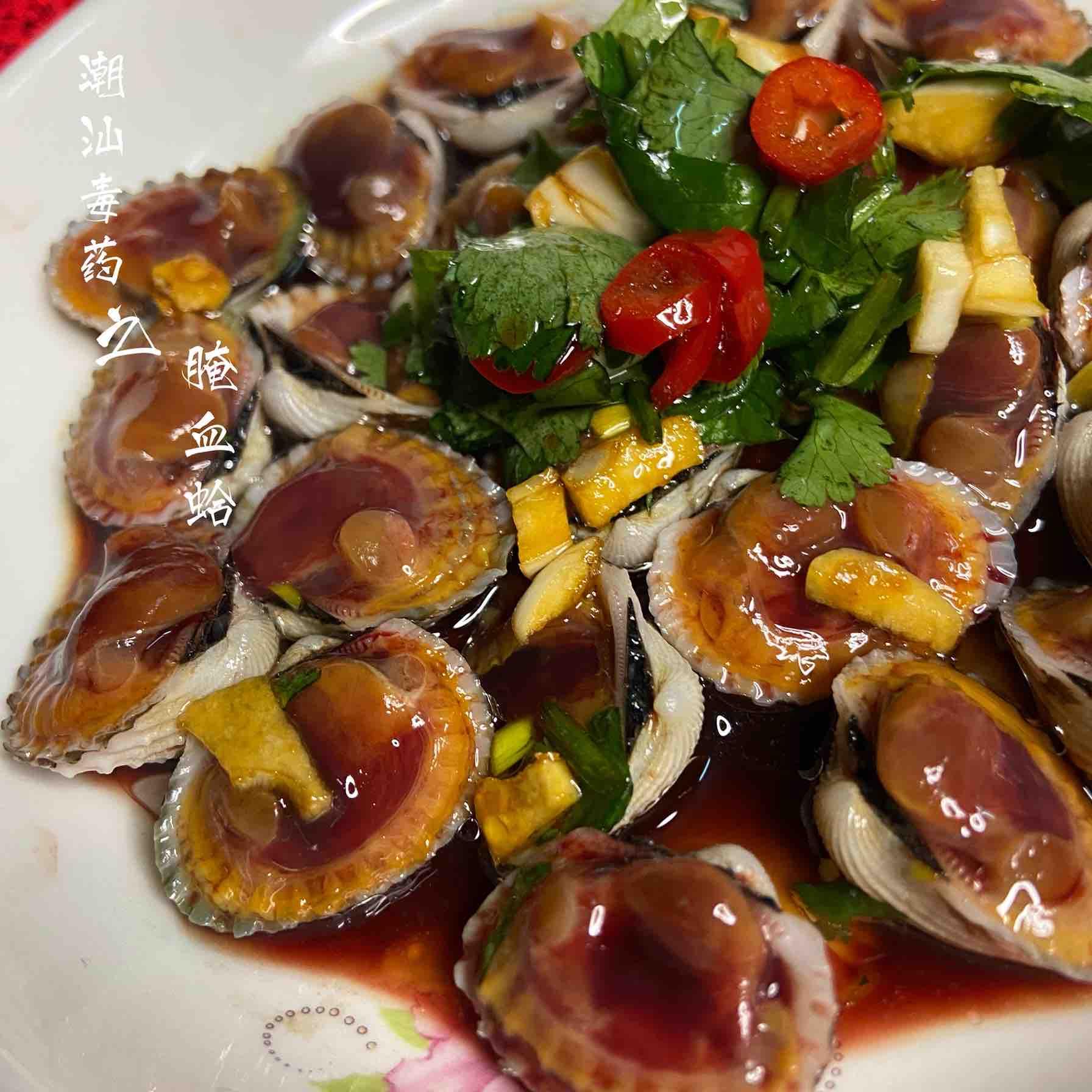 年夜饭必出现潮汕毒药之腌血蛤成品图