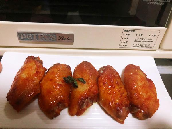 奥尔良烤鸡翅成品图