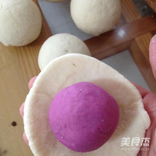 花开紫薯馒头怎么炒