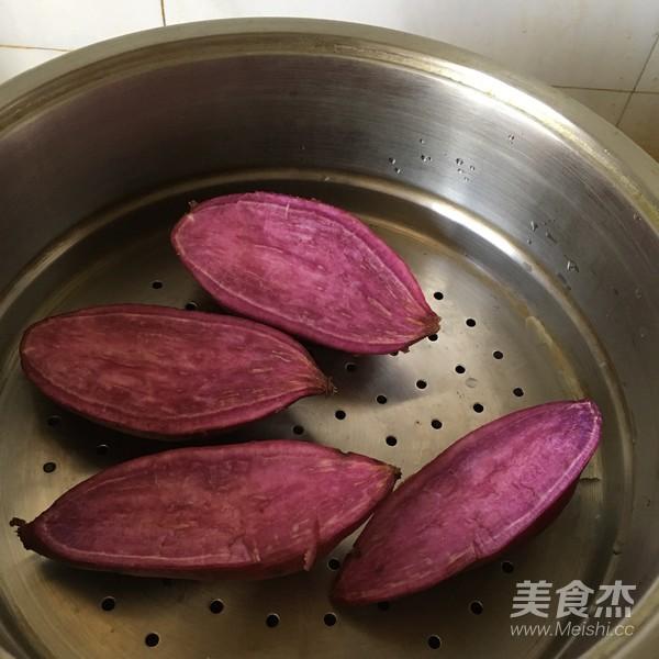 紫薯绿豆糕的简单做法