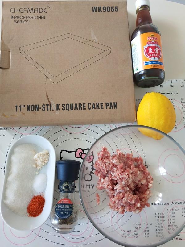 泰式柠檬猪肉脯的步骤