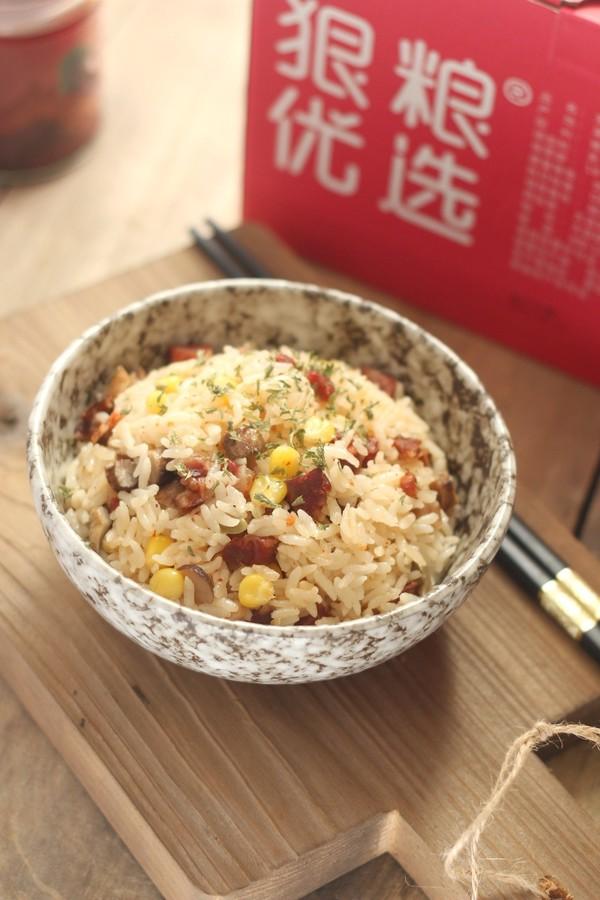 腊肠玉米香菇饭怎么炒
