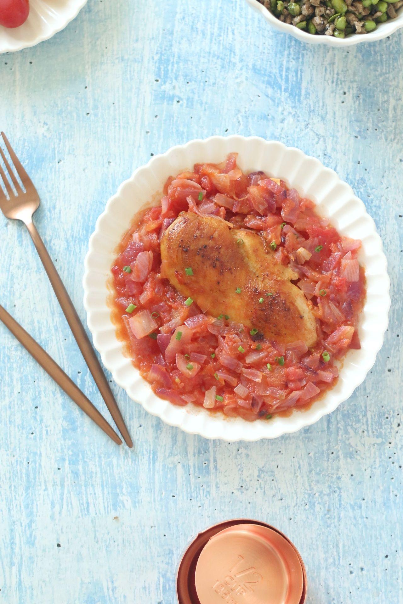 番茄黑椒煎鸡肉怎么炒